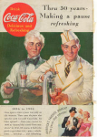 Click here to enlarge image and see more about item x0103:  Coca Cola  Ad x0103  Apr 1936 50 Years Ad