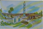Click here to enlarge image and see more about item x0149: Farm de Ville Motel Buena Park CA Postcard