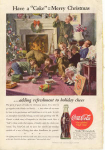 Click here to enlarge image and see more about item X0184:  1944 Coca Cola  Ad X0184 Dec 1944 Merry Christmas X0184