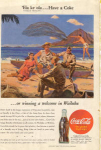 Click here to enlarge image and see more about item X0185:  Coca Cola  Ad  X0185 Feb  1945 Wailuku