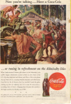 Click here to enlarge image and see more about item x0189:  Coca Cola  Ad x0189 Oct 1945 Admiralty Isles