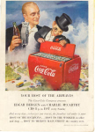 Click here to enlarge image and see more about item x0207:  Coca Cola  Ad x0207 Feb 1950 Edgar Bergen