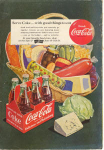 Click here to enlarge image and see more about item x0210:  Coca Cola  Ad Jun 1951