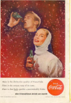 Click here to enlarge image and see more about item x0217: Coca Cola  Ad Feb 1956