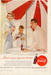 Click here to enlarge image and see more about item x0219: Coca Cola  Ad x0219 Jul1956