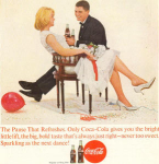Coca Cola  Ad Feb 1963