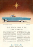 Click here to enlarge image and see more about item x0240: 1956 Lincoln Convertible Ad