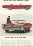 Click here to enlarge image and see more about item x0242: 1965 Pontiac Bonnevile Convertible Ad