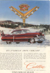 Click here to enlarge image and see more about item x0249: 1952 Cadillac Hardtop Ad Van Cleef Jewels x0249