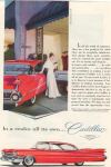 Click here to enlarge image and see more about item x0250: 1959 Cadillac Hardtop Ad Arden Gowns x0250