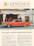 Click here to enlarge image and see more about item x0251: 1957 Lincoln Landau Ad
