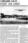 Click here to enlarge image and see more about item x0252: Ford Trimotor Ad Stout Air Lines