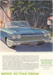 Click here to enlarge image and see more about item x0255: 1960 Cadillac 62 Convertible Ad x0255