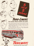 Click here to enlarge image and see more about item x0262: Trailways Bus LInes Thru-Liners Ad