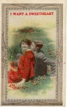 Click here to enlarge image and see more about item x0270: Valentine Sweetheart  Postcard x0270 1920s