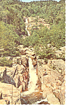 Silver Cascade, Crawford Notch,NH Postcard