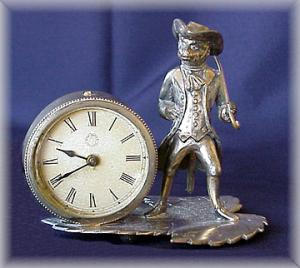 New Haven Clock With Figural Monkey