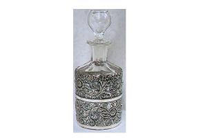 COLOGNE BOTTLE IN SILVERPLATE FRAME (Image1)