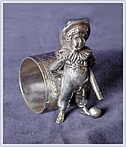 FIGURAL NAPKIN RING BOY WITH BAT AND BALL (Image1)