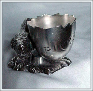 Silverplate Toothpick Holder Rooster