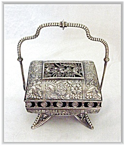 Silverplate Mechanical Jewel Casket