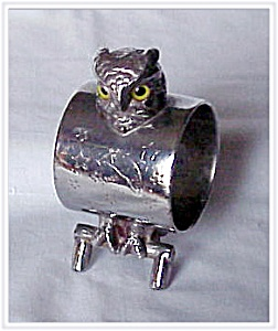 Figural Napkin Ring - Glass Eyed Owl