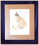 Click here to enlarge image and see more about item V4418: MAUD HUMPHREY NURSERY PRINT