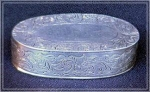 Click here to enlarge image and see more about item V5201: VICTORIAN SILVERPLATE PIN BOX
