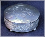 Click here to enlarge image and see more about item V5203: VICTORIAN SILVERPLATE JEWEL BOX