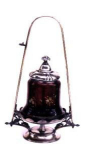 Click here to enlarge image and see more about item V6365: PICKLE CASTOR- ENAMELED PANELED RUBY