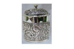Click here to enlarge image and see more about item V6430: SILVERPLATE HUMIDOR