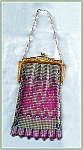 Click here to enlarge image and see more about item V7115: WHITING DAVIS PURSE PINK AND PURPLE