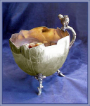 Click here to enlarge image and see more about item V7834: NUT BOWL SILVERPLATED FIGURAL SQUIRREL
