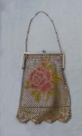 Click here to enlarge image and see more about item V7949: BEAUTIFUL ENAMELED PURSE