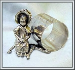 FIGURAL NAPKIN RING KATE GREENAWAY GIRL