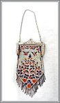 Click here to enlarge image and see more about item V8328: GEOMETRIC MANDALIAN MESH PURSE