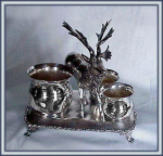 Click here to enlarge image and see more about item V8329: FIGURAL STAG SMOKE SET