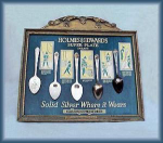 Click here to enlarge image and see more about item V8330: GREAT HOLMES & EDWARDS ADVERTISING SPOON SIGN