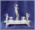 Click to view larger image of ORNATE VICTORIAN FIGURAL INKWELL (Image3)