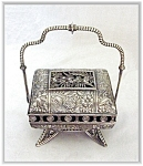 Click here to enlarge image and see more about item V8686: SILVERPLATE MECHANICAL JEWEL CASKET