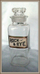Click here to enlarge image and see more about item V8733: BAR BOTTLE GLASS LABEL ROCK AND RYE
