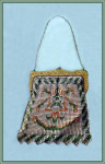 Click here to enlarge image and see more about item V8767: WHITING DAVIS PURSE GEMETRIC DESIGN