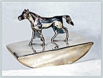 Click here to enlarge image and see more about item V8888: INK BLOTTER - FIGURAL HORSE