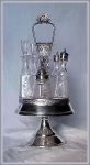 Click here to enlarge image and see more about item V8976: AMERICAN VICTORIAN REVOLVING CASTOR SET