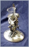 Click to view larger image of VICTORIAN VASE IN LARGE STAG HOLDER (Image1)