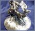 Click to view larger image of VICTORIAN VASE IN LARGE STAG HOLDER (Image2)