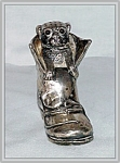 Click here to enlarge image and see more about item v9359: VICTORIAN SILVERPLATE PUG DOG SALT SHAKER