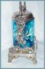 Click to view larger image of PICKLE CASTOR - BLUE ENAMELED, TALL ORNATE (Image2)