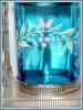 Click to view larger image of PICKLE CASTOR - BLUE ENAMELED, TALL ORNATE (Image3)