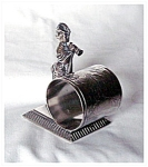 FIGURAL NAPKIN RING - WOMAN WITH MEGAPHONE